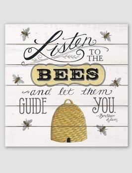 Conimar Art Listen To The Bees Pallet Sign