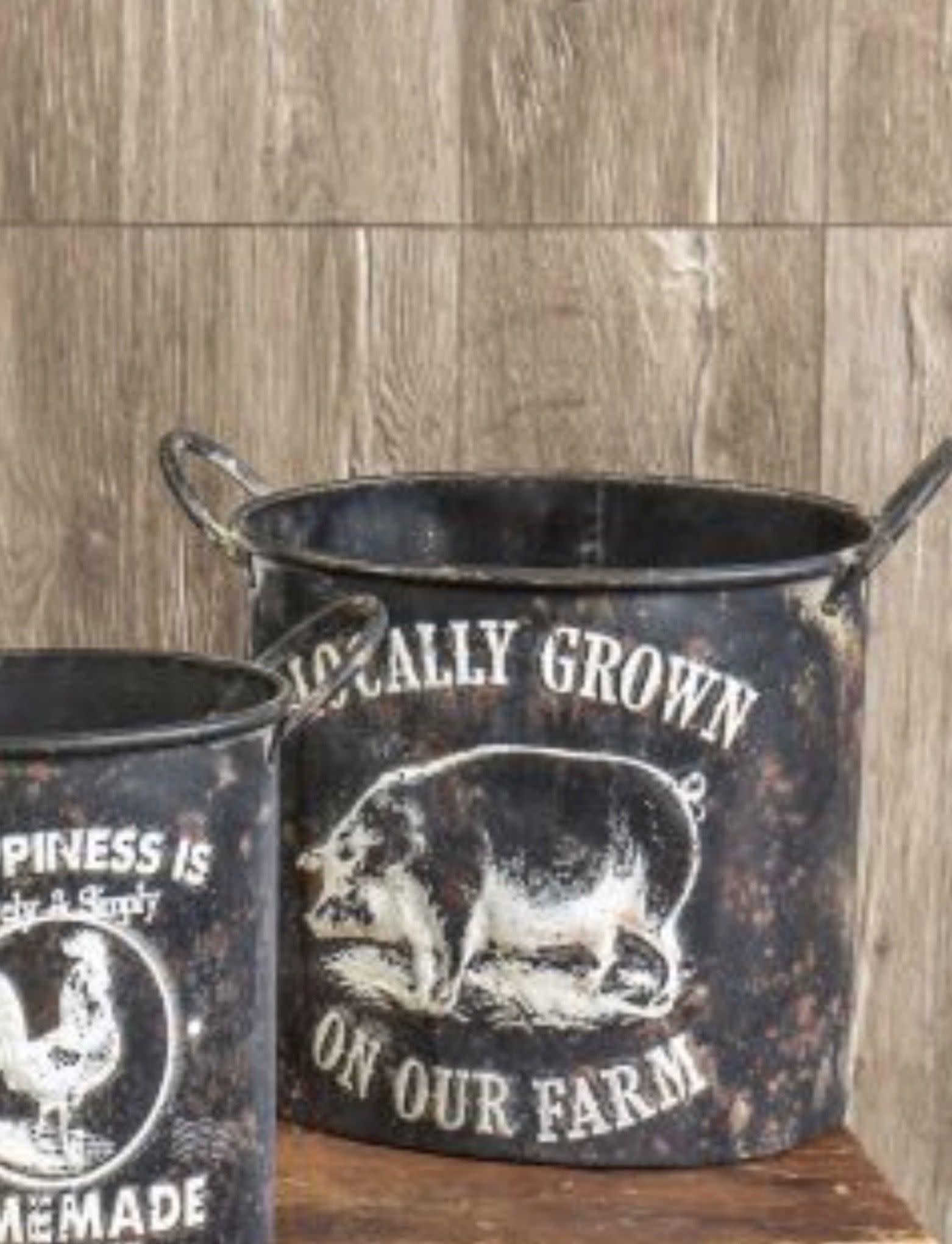 Ragon House Collection Locally Grown On Our Farm Pot - Medium