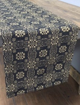 Nana's Farmhouse Gettysburg Black/Tan Table Square - 34""