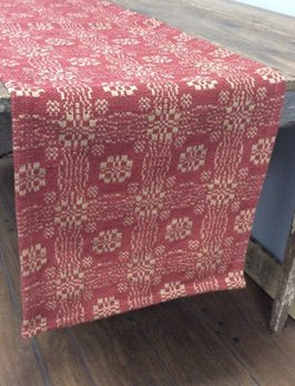 Nana's Farmhouse Gettysburg Red/Tan Table Square - 52""