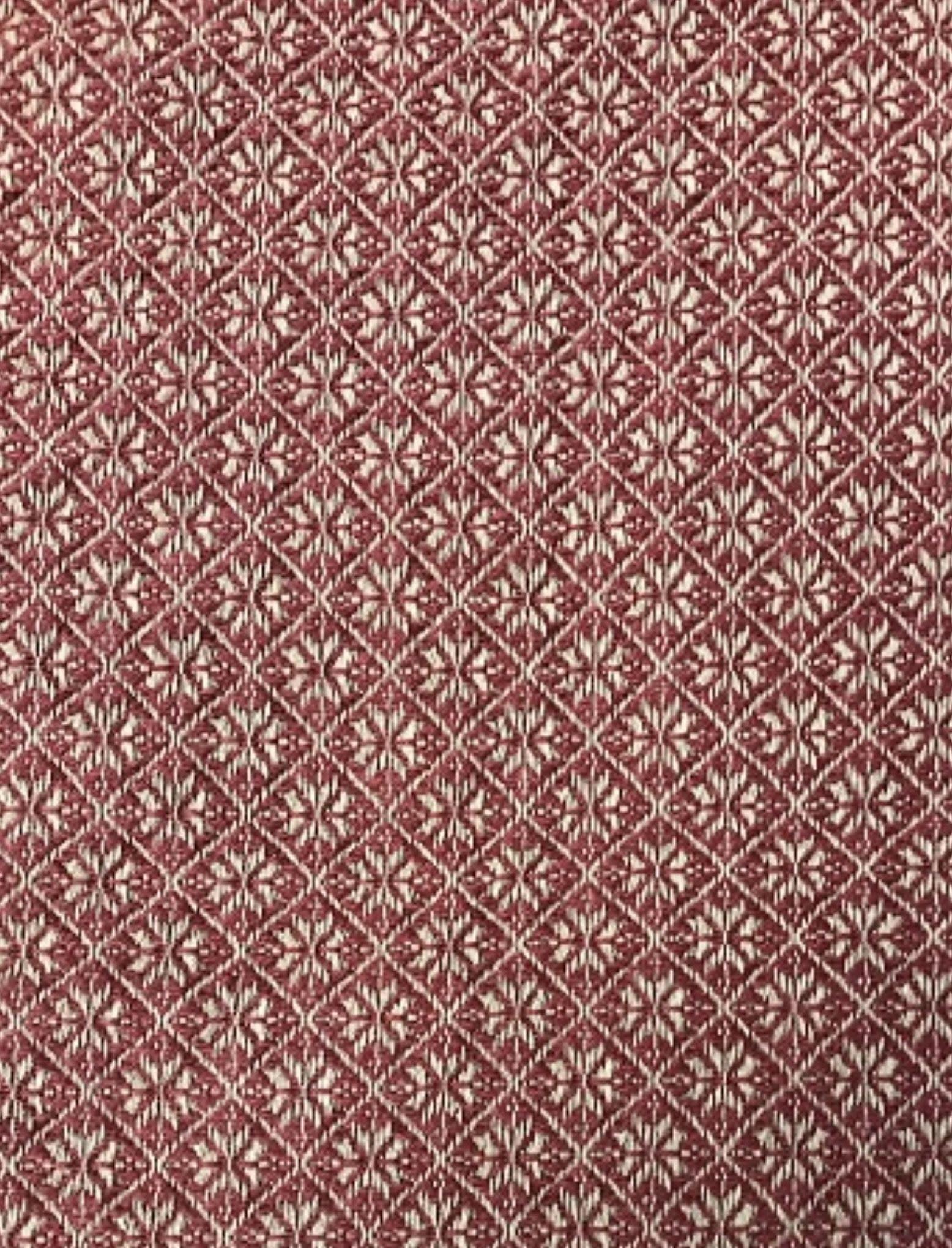 "Nana's Farmhouse Cherry Blossom Red/Tan Table Square - 34"""