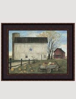 Bonnie Fisher Blue Star Barn Autumn by Bonnie Fisher