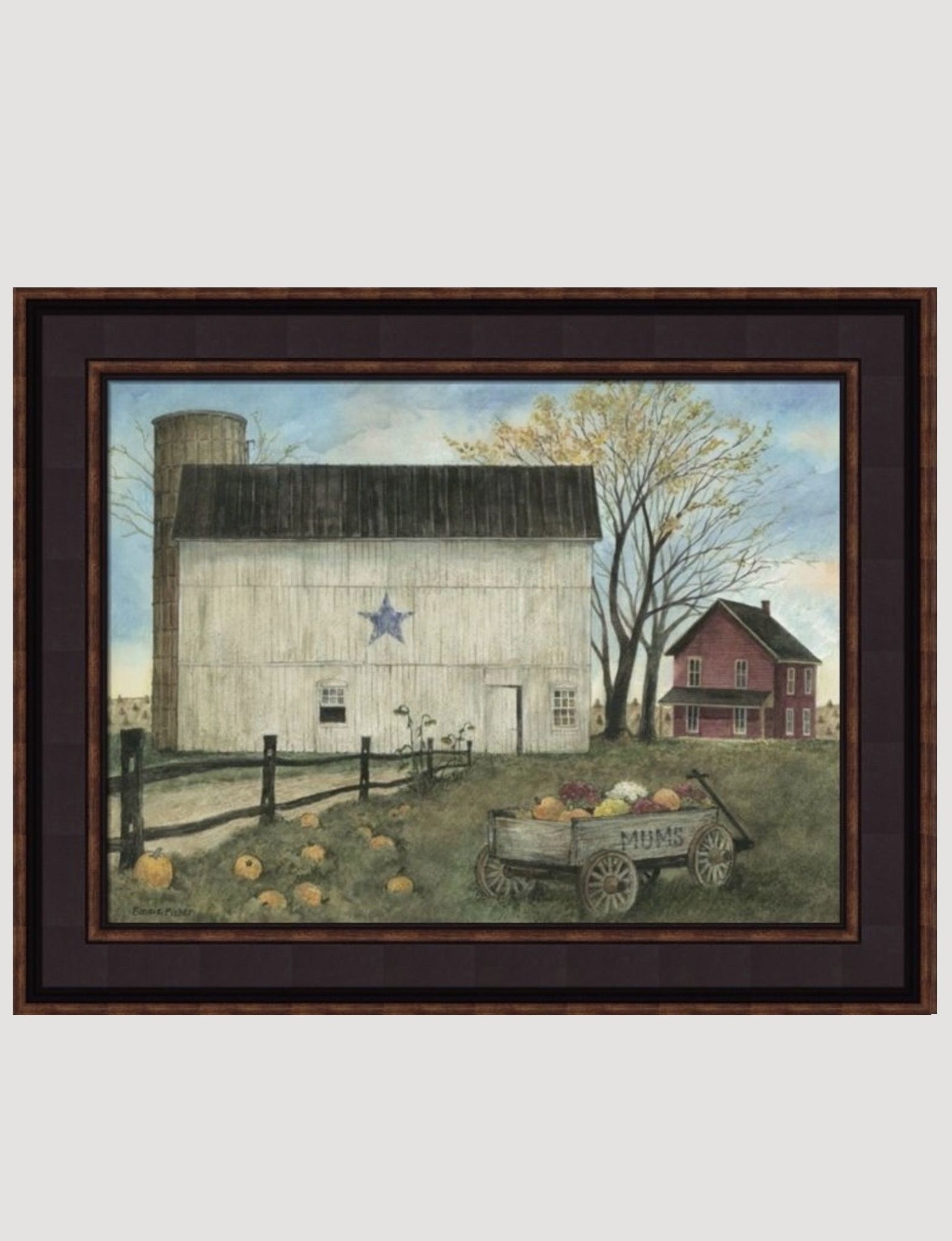 Bonnie Fisher Blue Star Barn Autumn by Bonnie Fisher