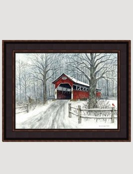 Bonnie Fisher Humbart Covered Bridge Canvas Print by Bonnie Fisher