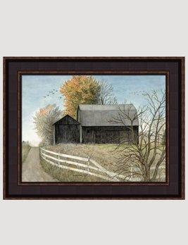Bonnie Fisher Black Barn Canvas Print by Bonnie Fisher