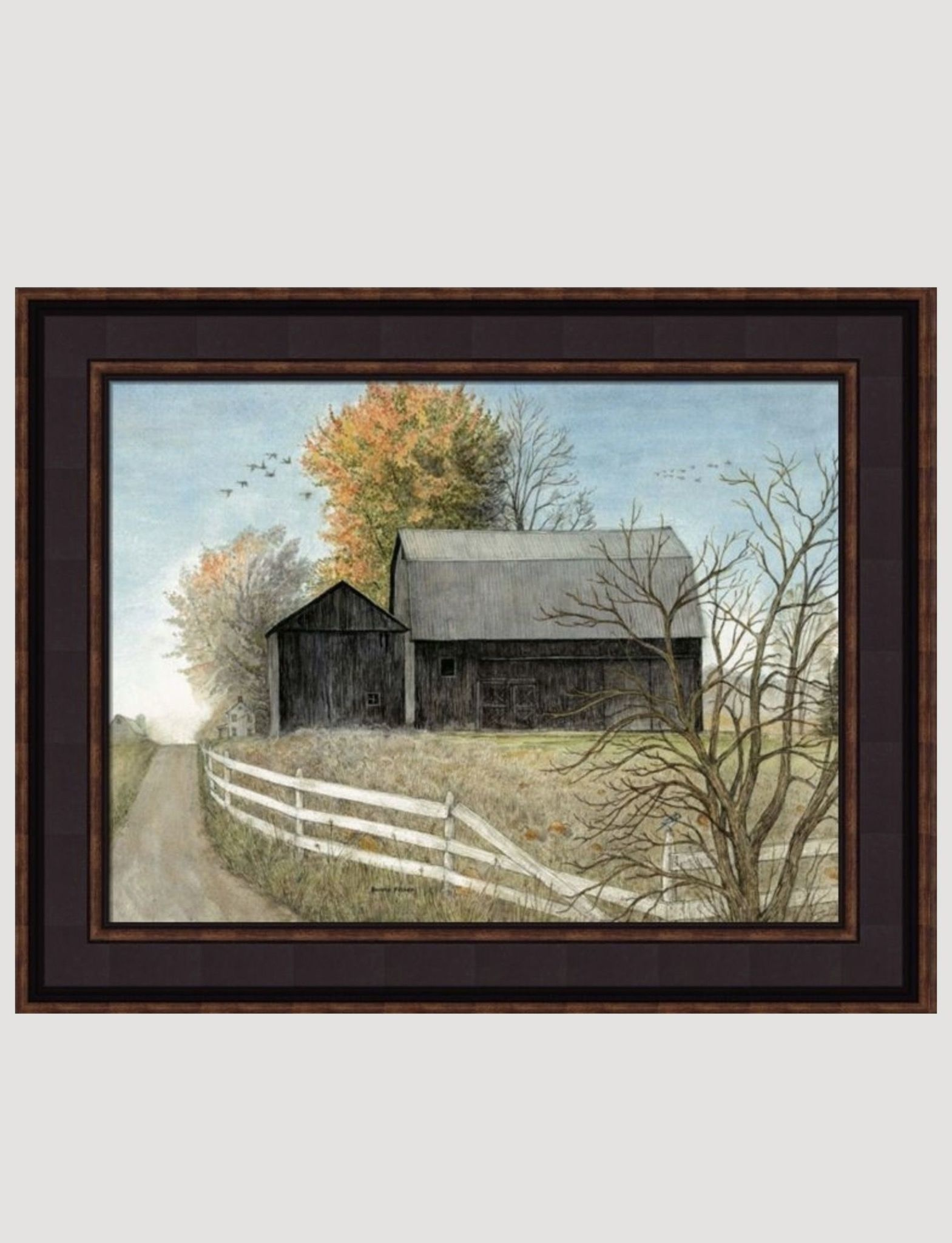 Bonnie Fisher Black Barn Canvas Print by Bonnie Fisher