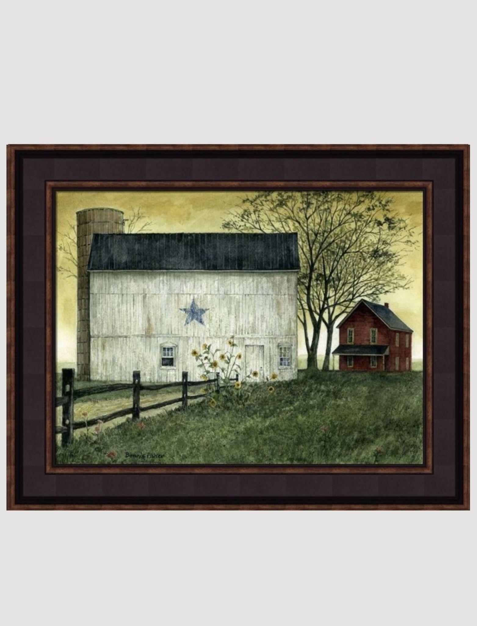 Bonnie Fisher Bonnie Fisher's Summer Star Barn Framed Print