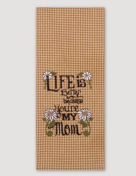Home Collections By Raghu Life Is Better Dish Towel