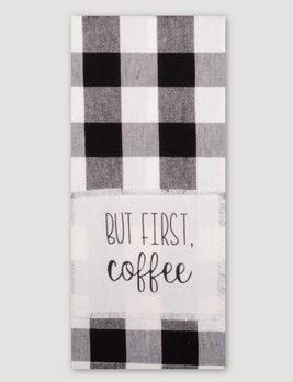 Home Collections By Raghu Buffalo Check But First Coffee Towel