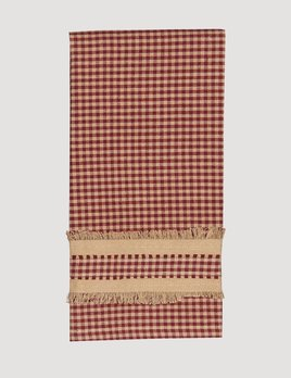 Home Collections By Raghu Newbury Gingham Red Towel