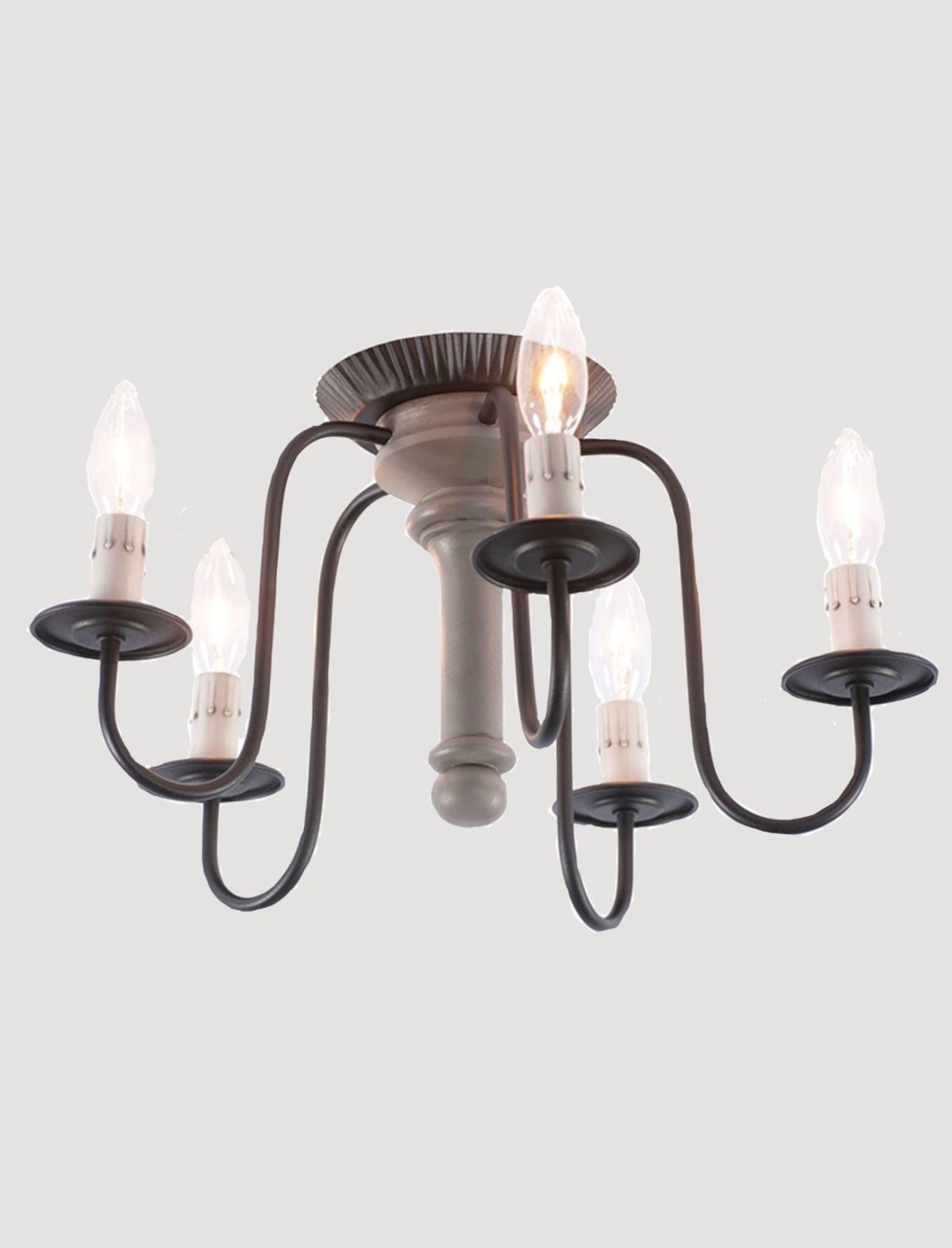 Irvin's Tinware Berkshire 5 Light Semi-Flush Mount Wood Ceiling Light