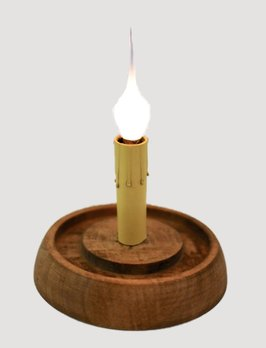 C R Designs Weathered Brown Candle Sleeve Base - Round