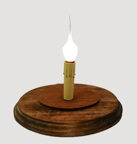 C R Designs Weathered Brown Candle Sleeve Base  - Oval