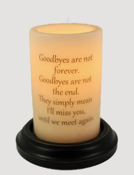 C R Designs Bereavement Goodbyes Candle Sleeve