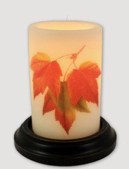 C R Designs Maple Leaves Candle Sleeve Vanilla