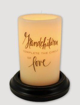 C R Designs Grandchildren Complete Candle Sleeve Antique Vanilla