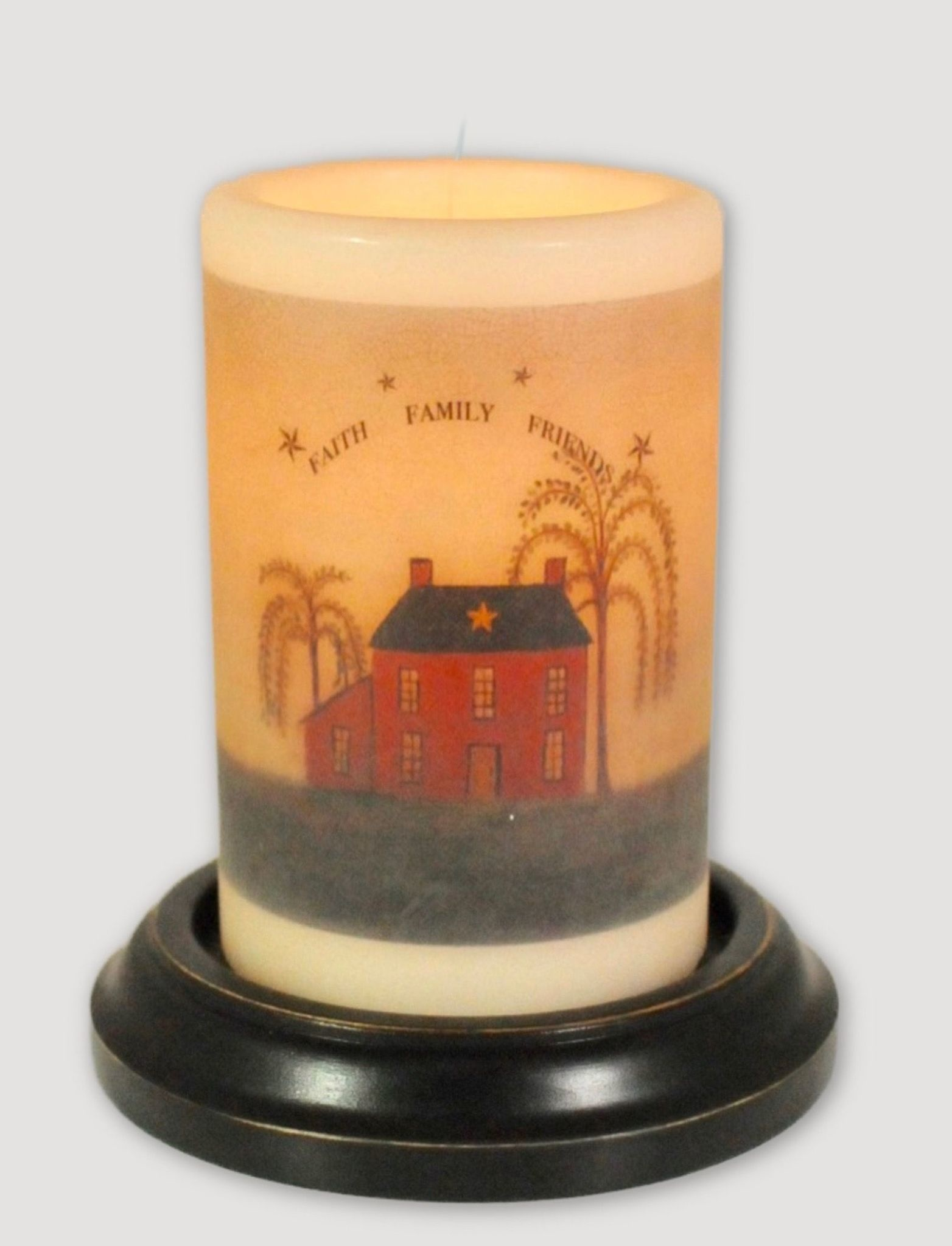 C R Designs Faith, Family, Friends Candle Sleeve Antique Vanilla