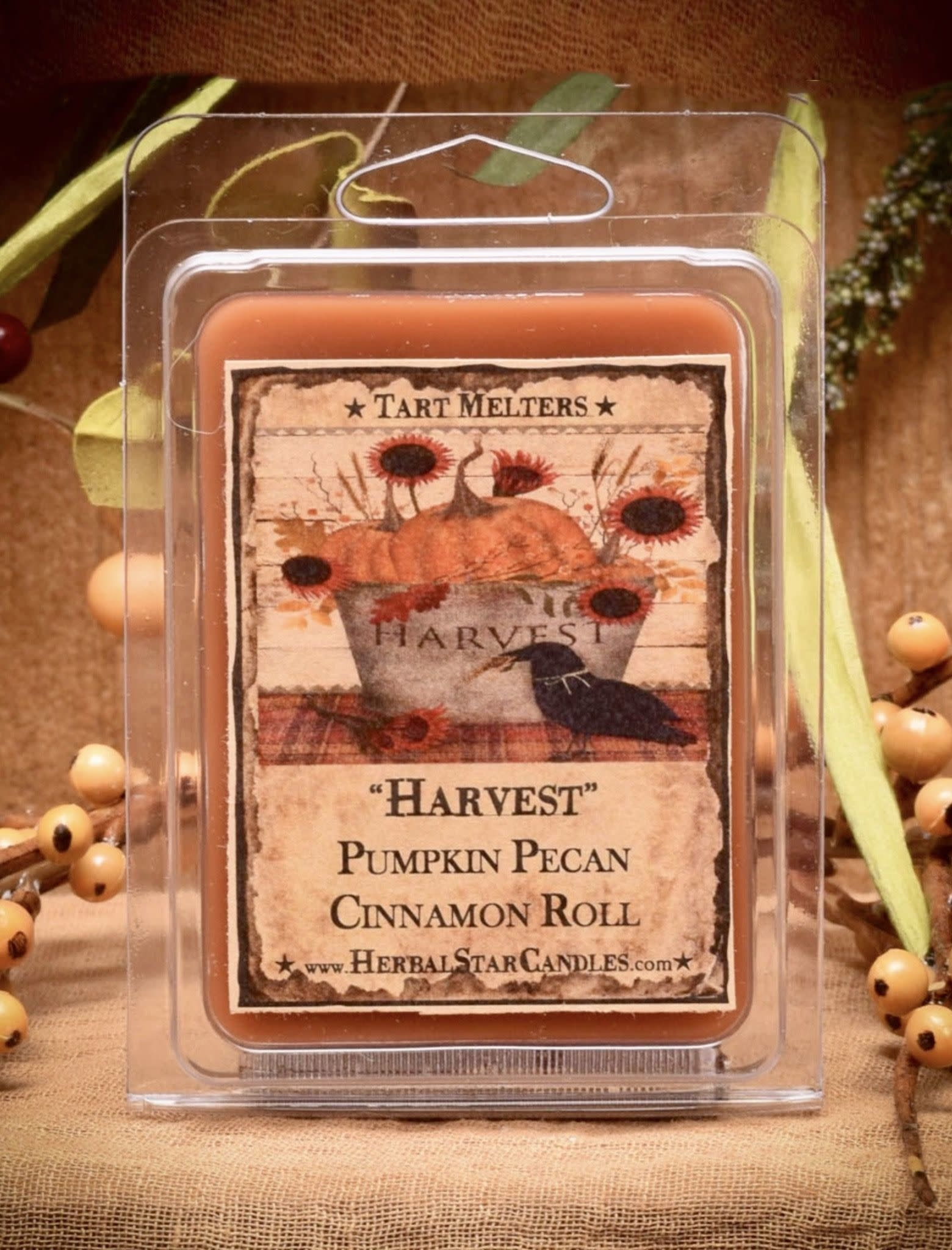 Herbal Star Candles Harvest Mini Pack of Tarts
