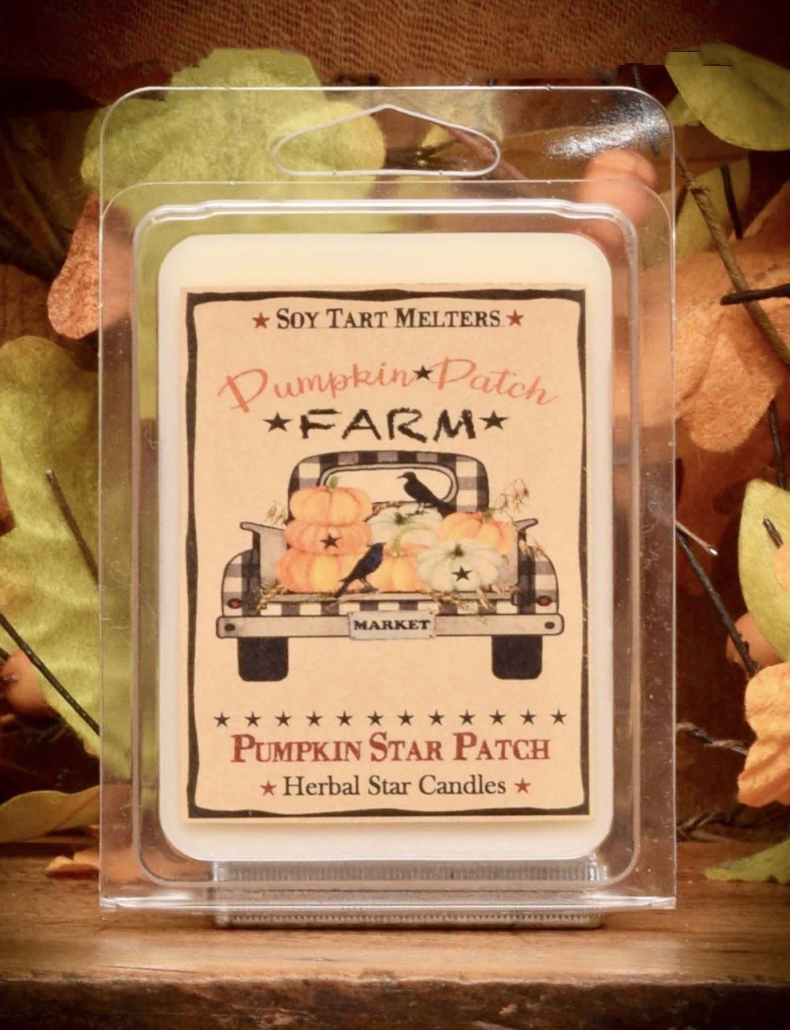 Herbal Star Candles Pumpkin Star Patch Mini Pack of Tarts