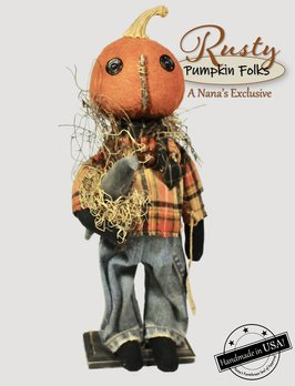 Rags A Muffin Rusty The Pumpkin Doll