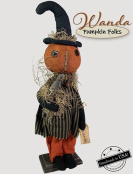 Nana's Farmhouse Wanda The Witch Pumpkin Doll