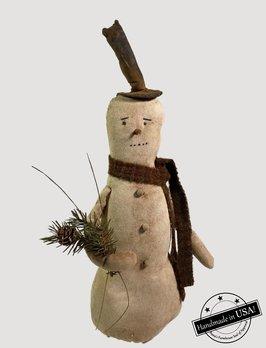 Nana's Farmhouse Finn The Snowman Holding Greens