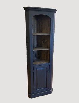 Nana's Farmhouse Black Corner Cabinet