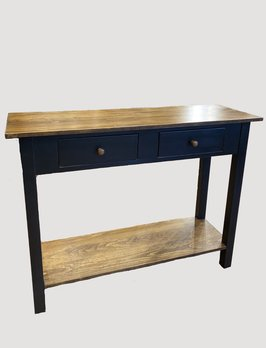 Nana's Farmhouse Black Sofa Table with Special Walnut Stain