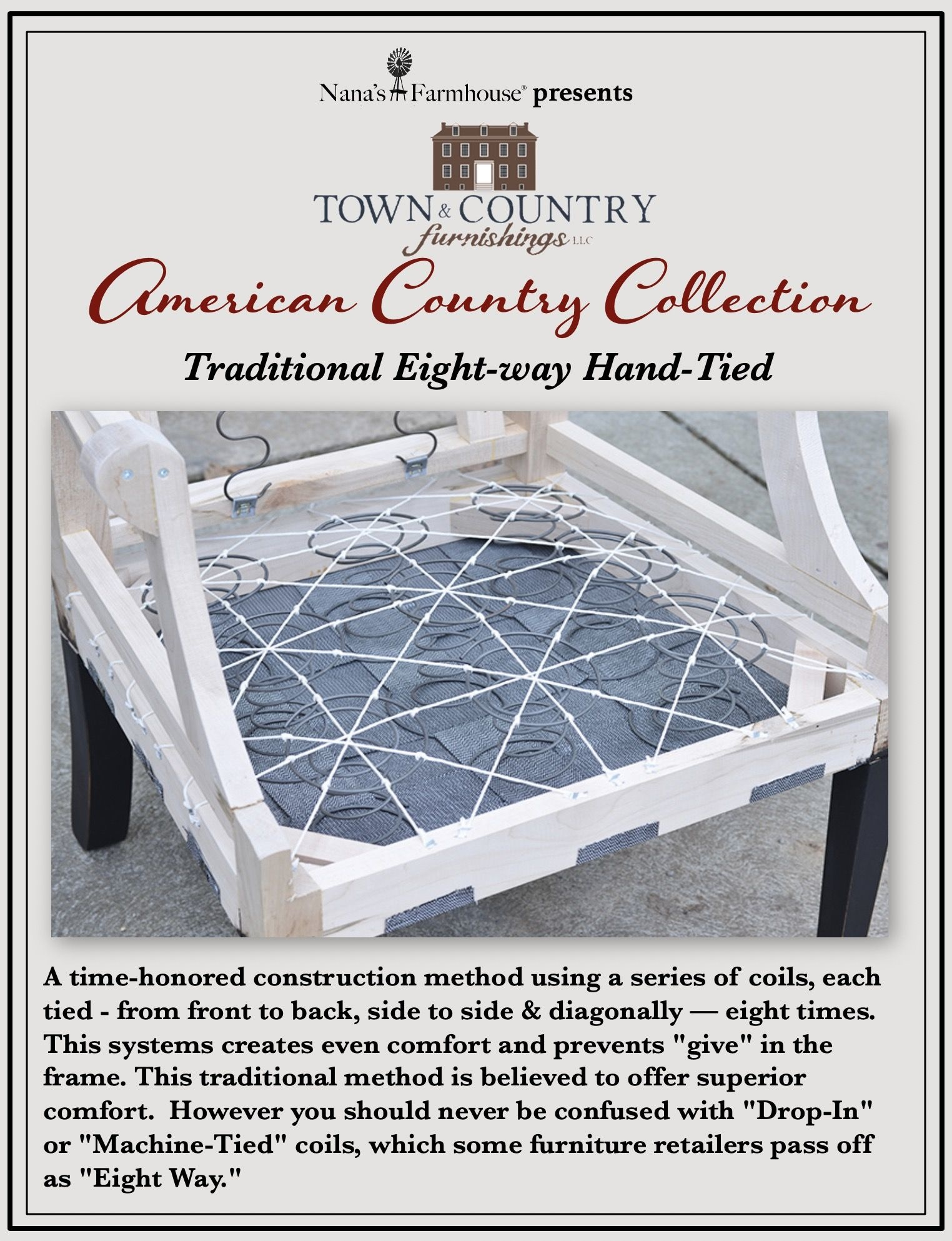 Town & Country Furnishings Country Chippendale Chair & Half