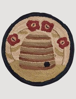 Park Designs Bee Skep Hooked Chair Pad 14.5""
