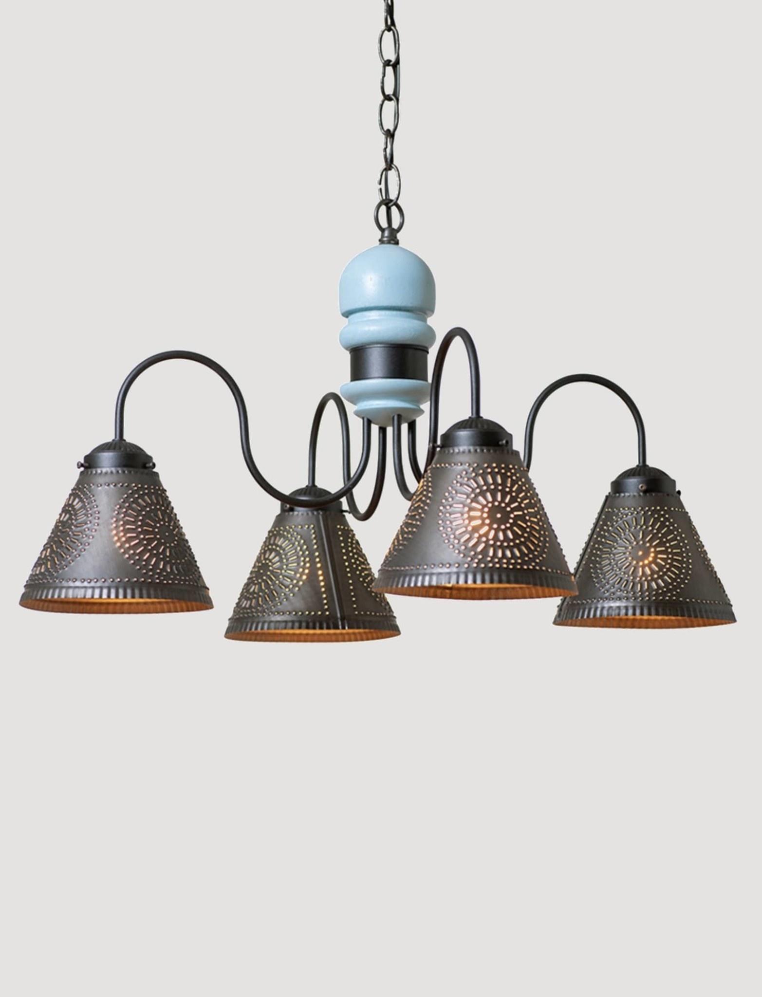 Irvin's Tinware Cambridge Chandelier 4 Light