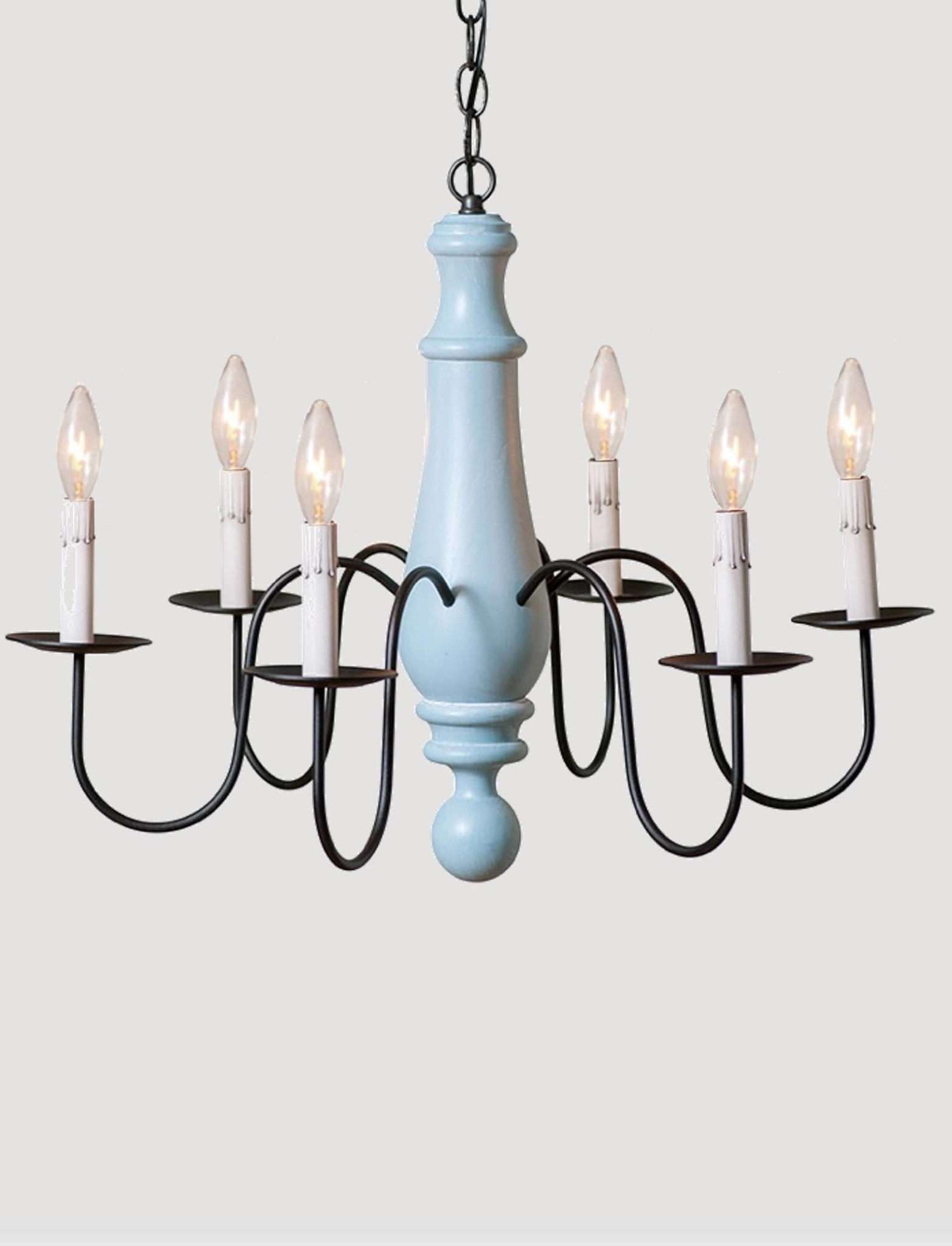 Irvin's Tinware Large Norfolk Chandelier 6 Light