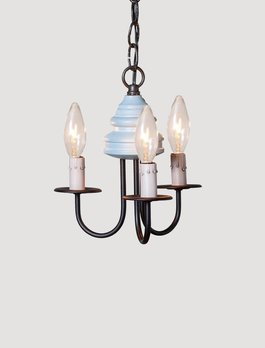 Irvin's Tinware Bellview Wood Chandelier 3 Light