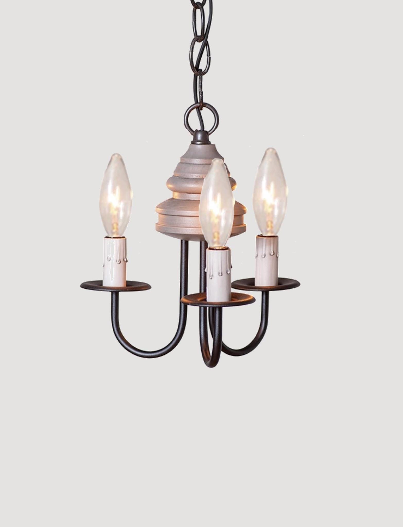 Irvin's Tinware Bellview Wood Chandelier 3 Light