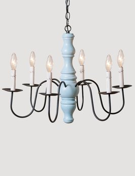 Irvin's Tinware Gettysburg Chandelier 6 Light