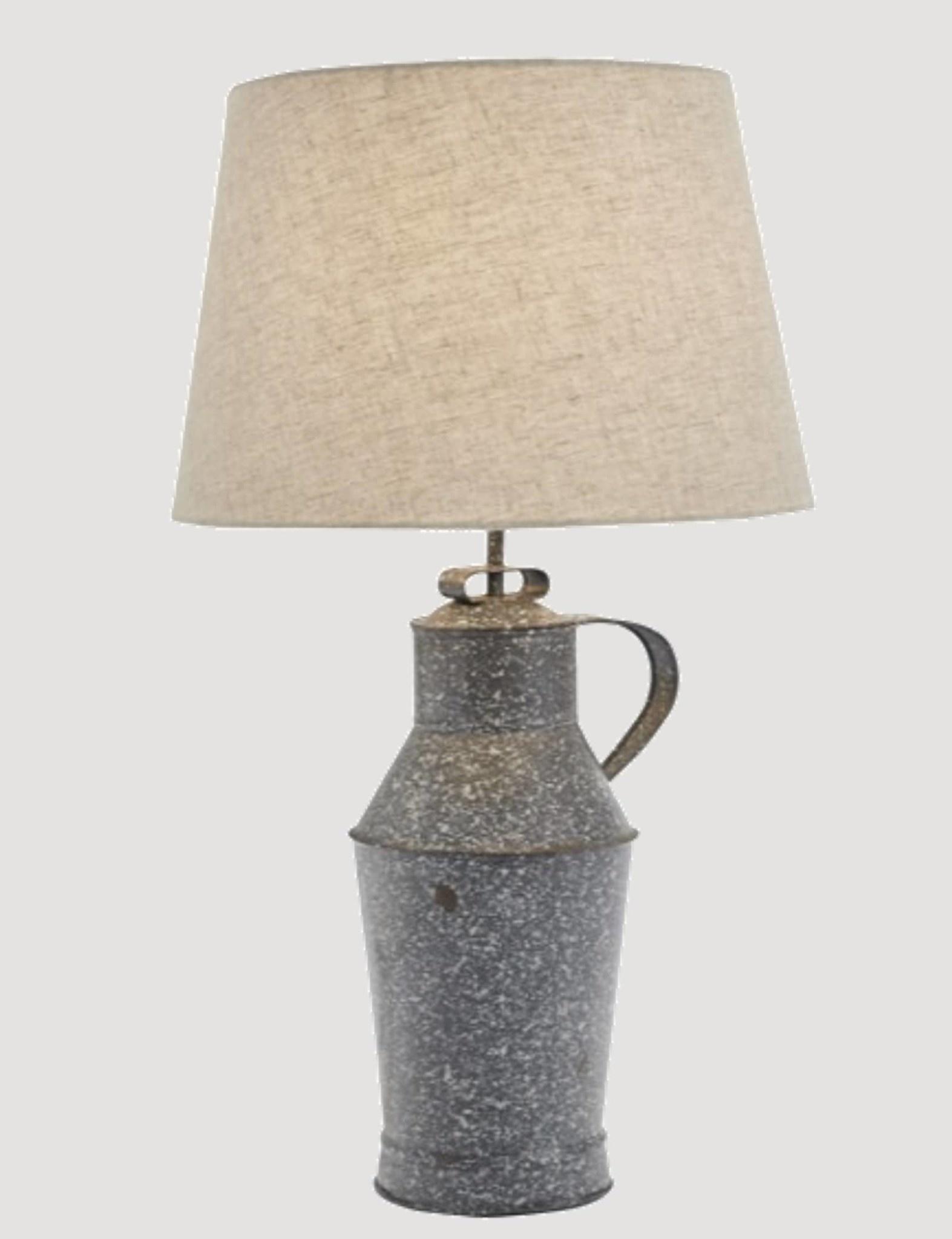Park Designs Granite Enamelware Milk Can Lamp with Shade Gray