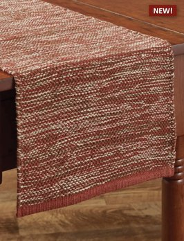 Park Designs Ashfield Red Yarn Table Runner