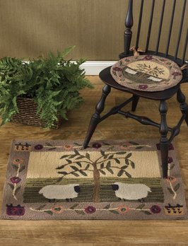 Park Designs Willow Sheep Hooked Rug