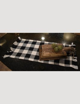 Nana's Farmhouse Buffalo Check Square White/Black