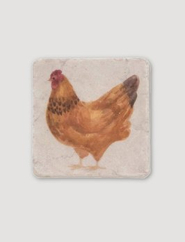 Nana's Farmhouse Brown Rooster Coaster