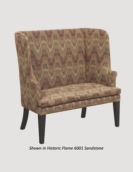 """Town & Country Furnishings Barrel Settle - 46"""""""