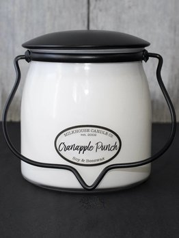 Milkhouse Candles Cranapple Punch 16oz Milkhouse Butter Jar