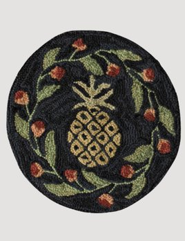 Park Designs Pineapple Hooked Chair Pad 14.5""