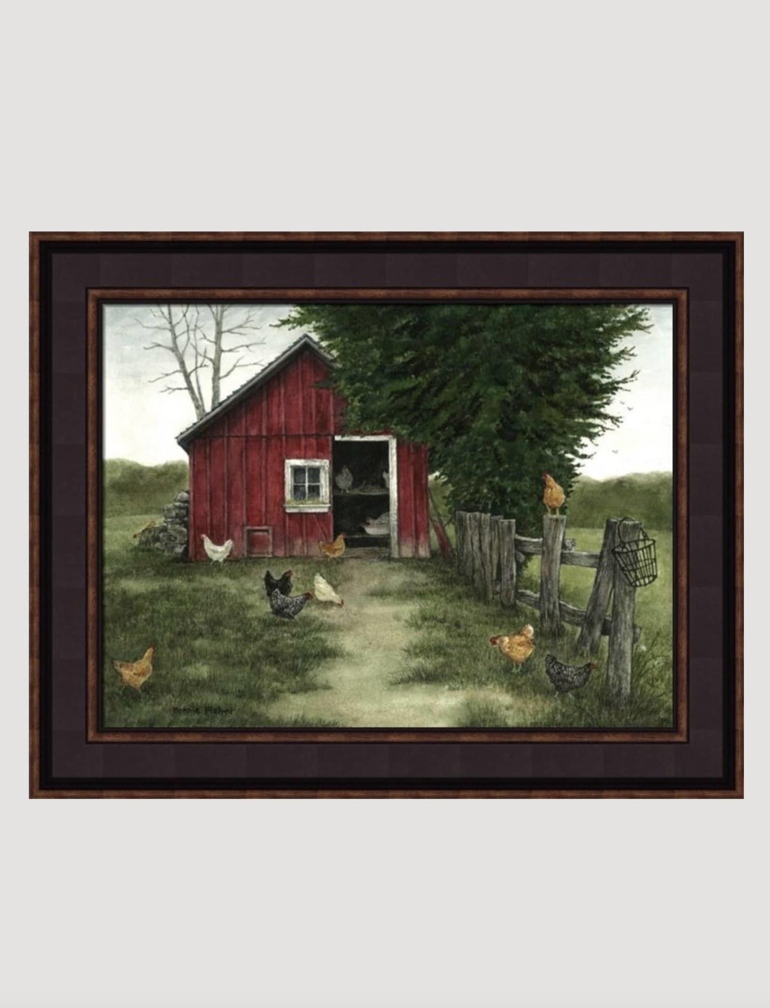 Bonnie Fisher Chickens by Bonnie Fisher