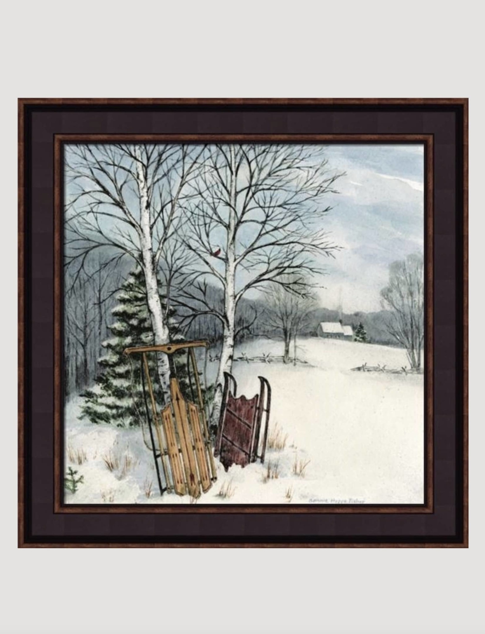 Two Sleds by Bonnie Fisher