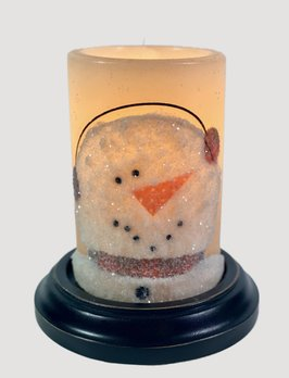 C R Designs Brrt Snowman Candle Sleeve