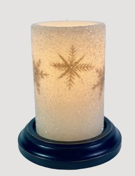 C R Designs Grey Snowflake Cluster Candle Sleeve