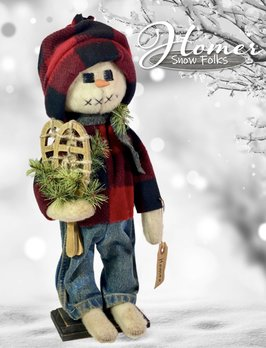 Nana's Farmhouse Homer The Snow Boy