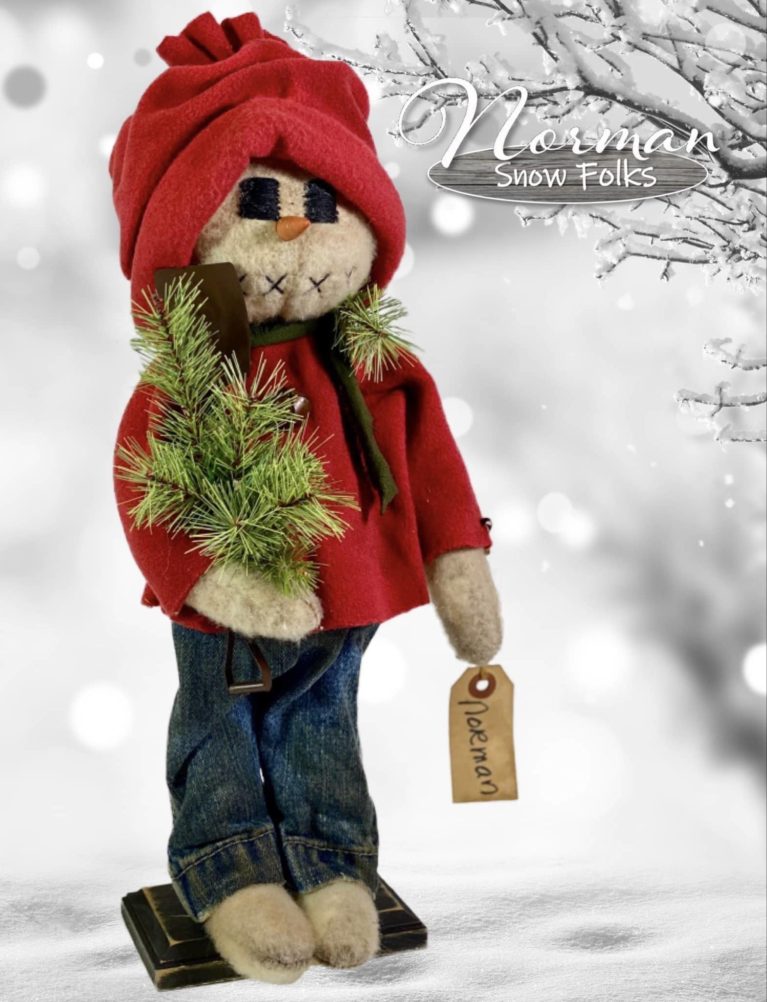 Nana's Farmhouse Norman Snow Boy w/Shovel & Greens