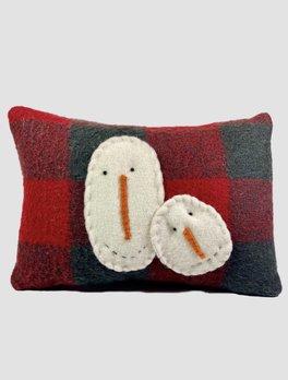 Nana's Farmhouse Wool Snowman Pillow
